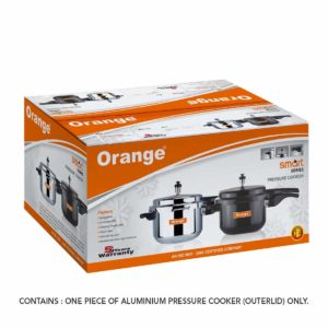 ORANGE PRESSURE POT COOKER – 5LTRS