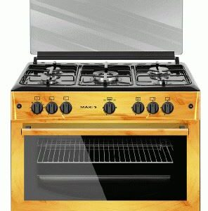 MAXI GAS COOKER 60X90  (5BURNER – WOOD)