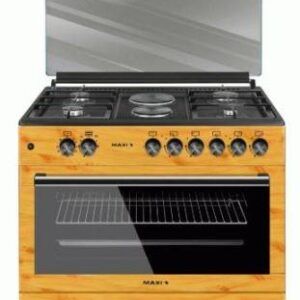 MAXI GAS COOKER 60 X 90  (4 BURNERS+2 ELECTRIC) WOOD