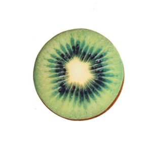 Kiwi Fruity Designed Throw Pillow