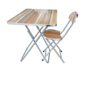 Adjustable Foldable Table And Chair – Wooden