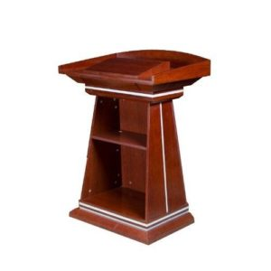 Lifemate Office Furniture Brown Wooden Podium