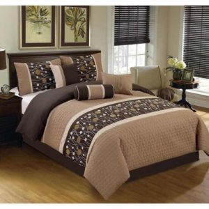 Unique Pattern Bed Sheet- Brown