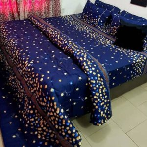 80% Beautiful bed sheet with pillow cases