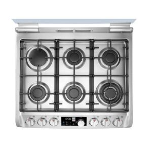 LG 6Gas Burner With Full LED Display & Dual Heating Technology